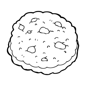 chocolate chip cookie cartoon